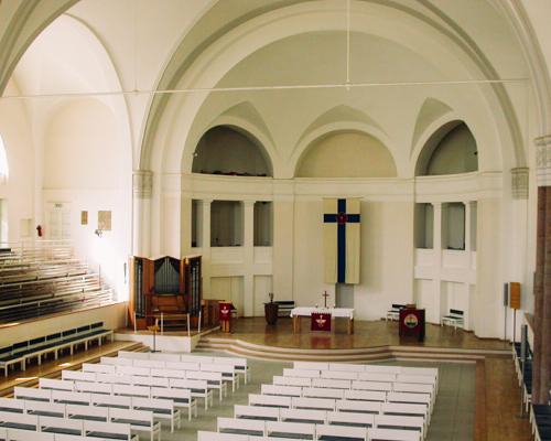 Здание Петрикирхе - Церковный зал.