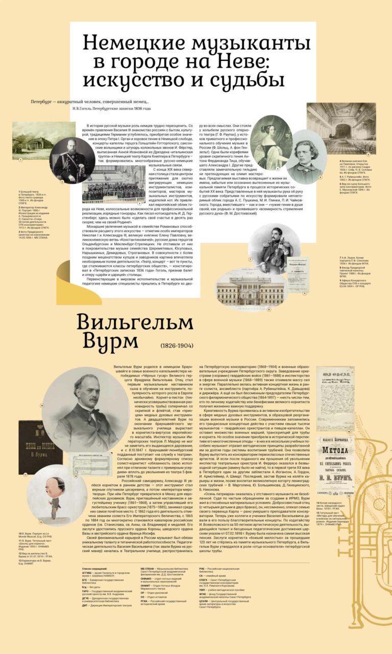 """Выставка """"Немецкие музыканты в городе на Неве"""" стенд 1"""